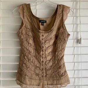 Bebe Fitted Lace Top